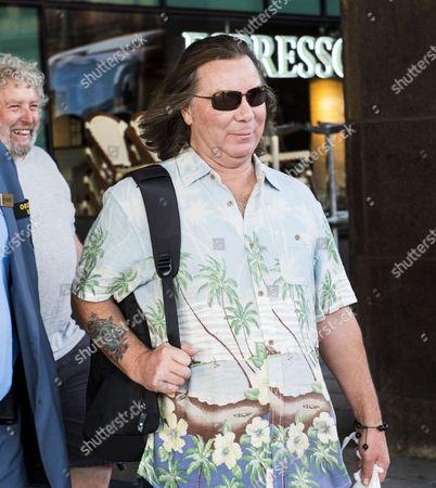Dave Murray leaving Sheraton hotel