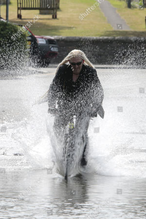 Editorial image of Musician Paul Cheese filming a video in Eynsford, Kent, Britain - 16 Jul 2013