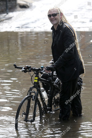 Editorial photo of Musician Paul Cheese filming a video in Eynsford, Kent, Britain - 16 Jul 2013