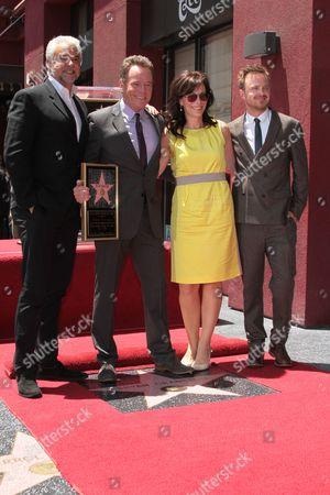 John O' Hurley, Bryan Cranston, Jane Kaczmarek and Aaron Paul