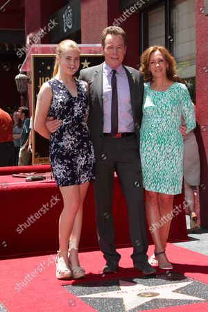 Bryan Cranston with wife Robin Dearden and daughter Taylor Dearden