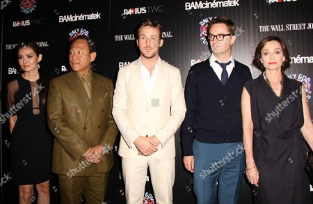Yayaying Rhatha Phongam, Vithaya Pansringarm, Ryan Gosling, Nicolas Winding Refn and Kristin Scott Thomas