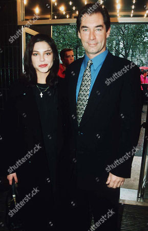 Timothy Dalton and his partner Oksana Grigorieva