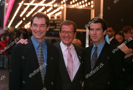 TIMOTHY DALTON, ROGER MOORE AND PIERCE BROSNAN