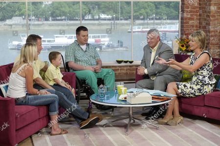 5-year-old Brecon Vaughan with Dan Black, Eamonn Holmes and Ruth Langsford