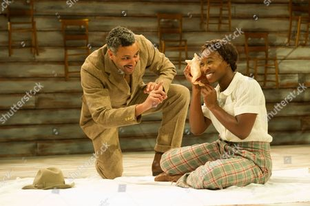 Christopher Colquhoun (Mister) and Cynthia Erivo (Celie).