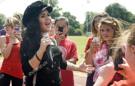 Editorial picture of Moniqe Fiddes at Lydiard Accademy Sports Day, Swindon, Britain - 16 Jul 2013