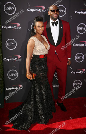 LeBron James with his fiance Savannah Brinson