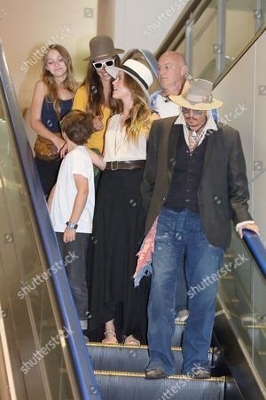 Stock Photo of Lily-Rose Melody Depp, Jack Depp, Amber Heard and Johnny Depp