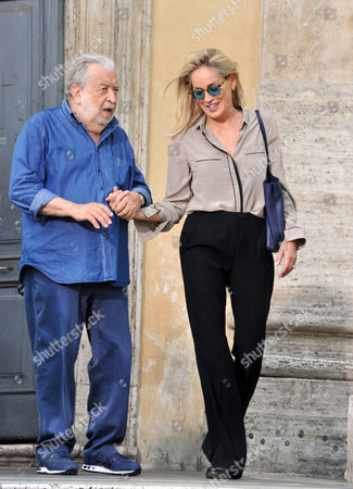 Sharon Stone and Antonio Avati