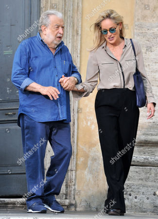 Stock Photo of Sharon Stone and Antonio Avati