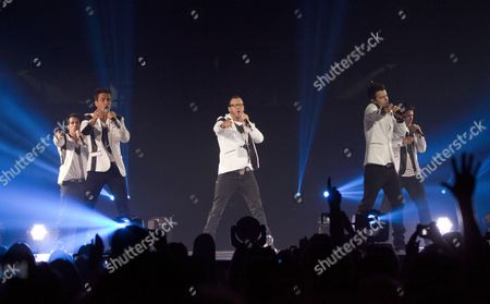 New Kids On The Block - Danny Wood, Donnie Wahlberg, Jonathan Knight, Joey McIntyre and Jordan Knight