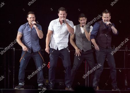 98 Degrees - Nick Lachey, Drew Lachey, Jeff Timmons and Justin Jeffre