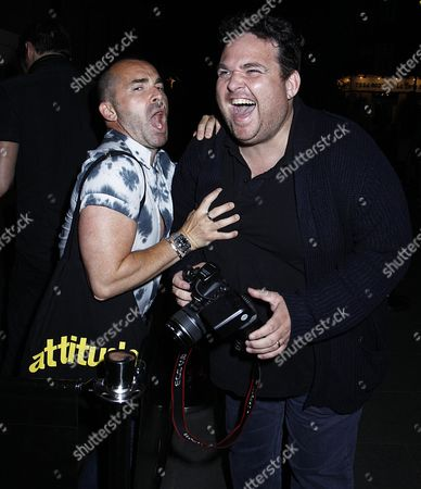 Stock Photo of Louie Spence with photographer James Curley