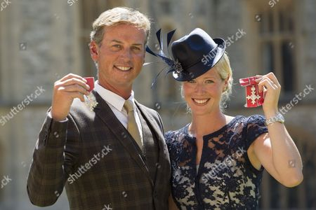 Stock Photo of Carl Hester MBE and Laura Bechtolsheimer MBE