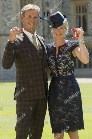 Carl Hester MBE and Laura Bechtolsheimer MBE
