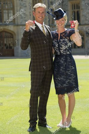 Stock Image of Carl Hester MBE and Laura Bechtolsheimer MBE