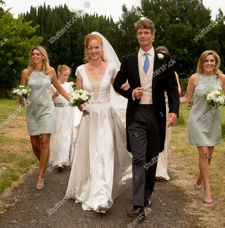 Editorial photo of Alicia Fox-Pitt and Sebastian Stoddart wedding at The Church Of The Holy Cross, Goodnestone, Kent, Britain - 20 Jul 2013