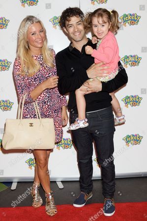 Denise Van Outen, Lee Mead and daughter Betsy Mead