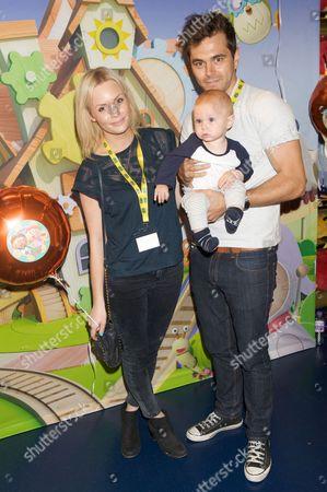 Lauren Crace, son Jack & Michael Stevenson