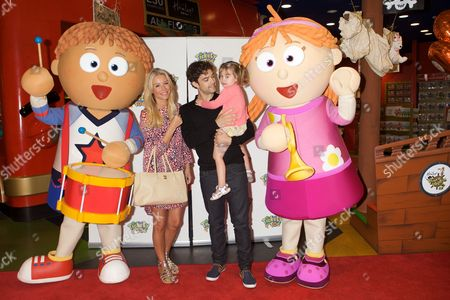 Tickety Toc's Tommy, Denise Van Outen, Lee Mead, daughter Betsy Mead and Tallulah