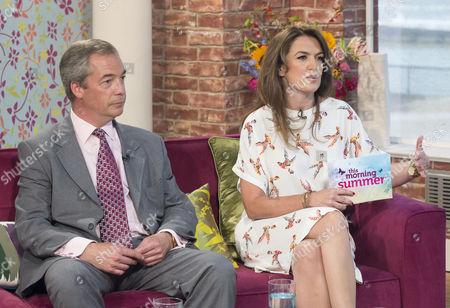 Nigel Farage and Emily Dean