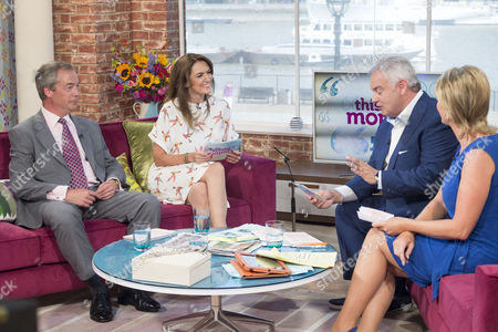 Nigel Farage and Emily Dean with Presenters Eamonn Holmes and Ruth Langsford