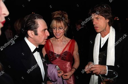 AL PACINO AND GIRLFRIEND LYNDALL HOBBS WITH MICK JAGGER