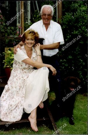 Actor Brian Rix (baron Rix) With His Daughter Actress Louisa Rix.
