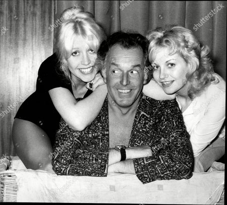 Editorial picture of Actor Brian Rix (now Baron Rix) During Rehearsals With Actresses Vivienne Johnson (l) And Donna Reading.