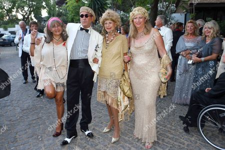 Stock Image of Olivia Valere and guests