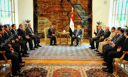 King Abdullah II and Egypt's Interim President Adly Mansour