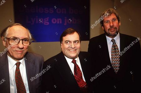 Stock Image of DONALD DEWAR, JOHN PRESCOTT AND ELLIOTT MORLEY