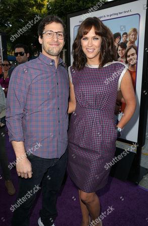 Andy Samberg and Maggie Carey