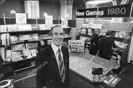 Glyn Owen Hughes And Electronic Games On The John Waddington Stand At The Harrogate International Toy Fair.