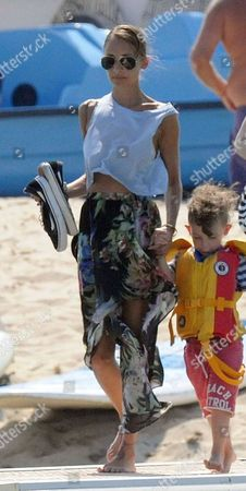 Nicole Richie and son Sparrow Madden