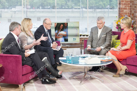 Neil Wallis, Marcia Moody and Arthur Edwards with Presenters Eamonn Holmes and Ruth Langsford