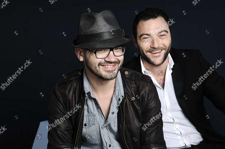 Stock Image of David Perrault and Denis Menochet
