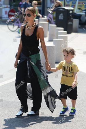 Nicole Richie with her son Sparrow Madden