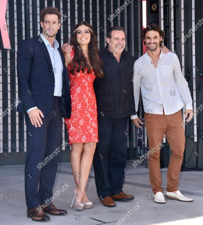 Stock Image of William Levy, Ximena Navarrete, Cesar Evora and Ivan Sanchez