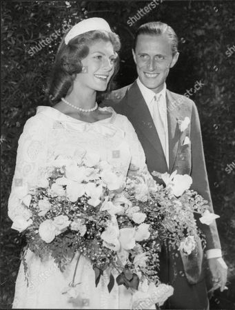 Wedding Of Baron Heinrich Thyssen And Fashion Model Baroness Fiona Thyssen (nee Fiona Campbell-walter (m.1956 Div.1965)) Hans Henrik (hans Heinrich 'heini') Oogost Gabor Tasso Thyssen-bornemisza De Kaszon (13 April 1921 Oo 26 April 2002) A Noted Industrialist And Art Collector Was A Dutch-born Swiss Citizen With A Hungarian Title A Legal Resident Of Monaco For Tax Purposes With A Declared Second Residency In The United Kingdom But In Actuality A Long-time Resident Of Spain And Son Of A German Father And A Hungarian And English American Mother (related To Daniel M. Frost And John Kerry). His Fifth And Last Wife Carmen 'tita' Cervera Is A Former Miss Spain.
