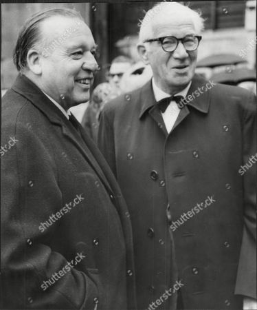 Eric Robertson And Henry Hall At Billy Cotton's Funeral At St Margaret's Church Westminster.
