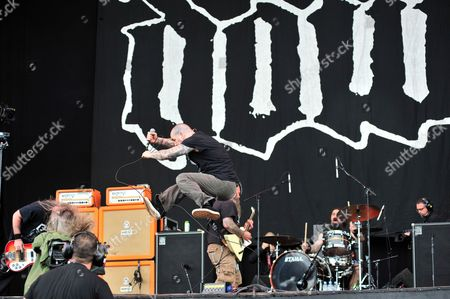 Stock Picture of Castle Donington, Britain - American Heavy Metal Group Down Performing Live On The Main Stage At Download Festival