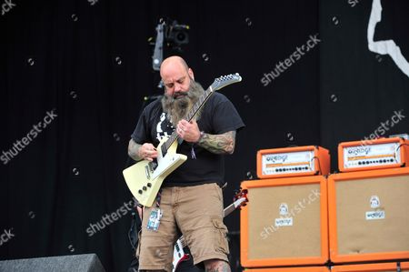 Castle Donington, Britain - Guitarist Kirk Windstein Of American Heavy Metal Group Down Performing Live On The Main Stage At Download Festival