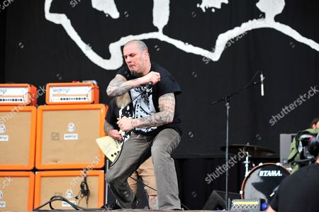 Castle Donington, Britain - Frontman Phil Anselmo Of American Heavy Metal Group Down Performing Live On The Main Stage At Download Festival