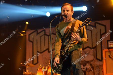 Castle Donington, Britain - Guitarist Maciek Ofstad Of Norwegian Metal Group Kvelertak Performing Live On The Pepsi Max Stage At Download Festival
