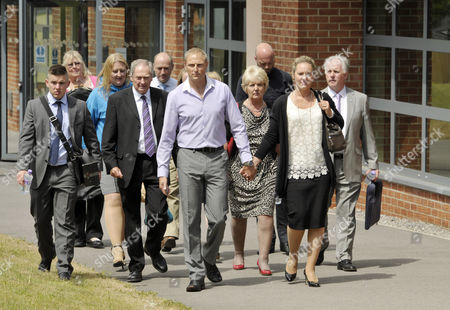 Sergeant Danny Nightingale walks free from court with a suspended sentence, with wife Sally Nightingale