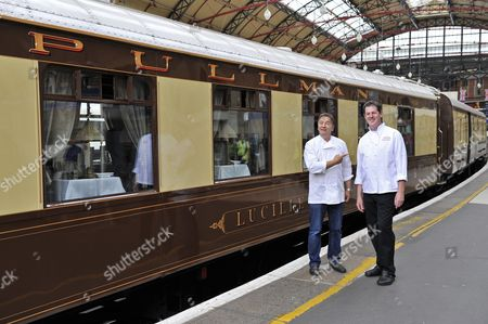 Stock Picture of Raymond Blanc and Robbie Gleeson, Executive Head Chef for the UK Day Trains.