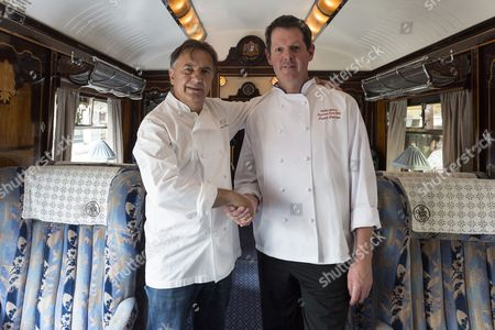 Editorial picture of Raymond Blanc launches pop-up dining aboard a British Pullman train, Victoria Station, London, Britain - 26 Jul 2013