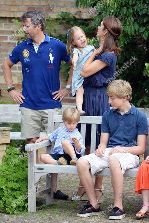 Crown Prince Frederik, Crown Princess Mary, Prince Vincent and Princess Josephine, Count Richard von Pfeil und Klein-Ellguth